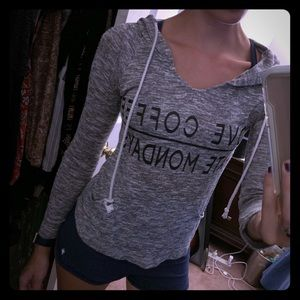 Relaxed soft grey hoody
